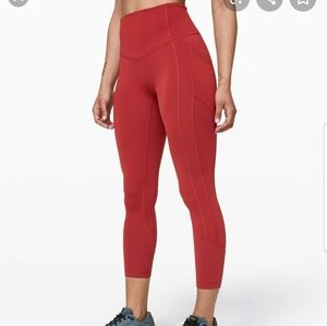 "Lululemon all the right places CAYENNE 23"" sz 4"